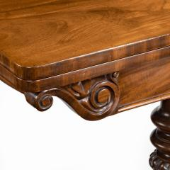 A companion pair of William IV flame mahogany card tables - 1849228