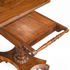 A companion pair of William IV flame mahogany card tables - 1849229