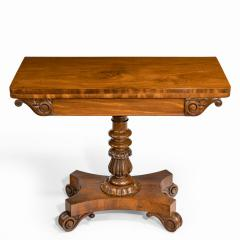 A companion pair of William IV flame mahogany card tables - 1849231