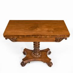 A companion pair of William IV flame mahogany card tables - 1849232
