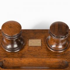 A desk set made of timber from HMS Collingwood England c 1890  - 1163094