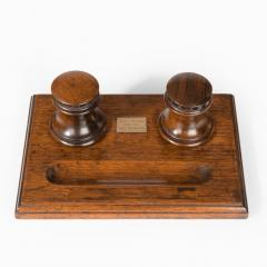 A desk set made of timber from HMS Collingwood England c 1890  - 1163095