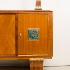 A fine French 1940s walnut veneer with gilded carved wood details sideboard - 2033427