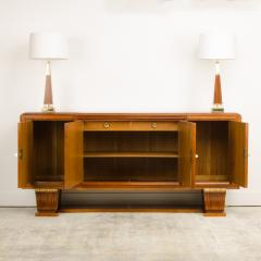 A fine French 1940s walnut veneer with gilded carved wood details sideboard - 2033442