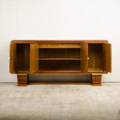 A fine French 1940s walnut veneer with gilded carved wood details sideboard - 2033457