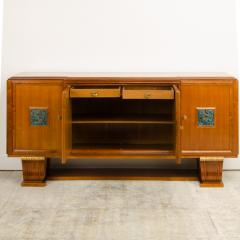 A fine French 1940s walnut veneer with gilded carved wood details sideboard - 2033465