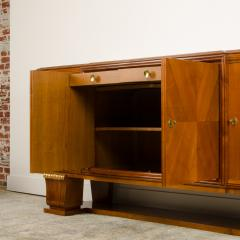 A fine French 1940s walnut veneer with gilded carved wood details sideboard - 2033485