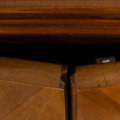 A fine French 1940s walnut veneer with gilded carved wood details sideboard - 2033496