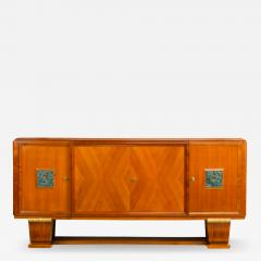 A fine French 1940s walnut veneer with gilded carved wood details sideboard - 2035846