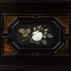 A fine quality ebony bijouterie table cabinet showing Cavalry Church - 1173197