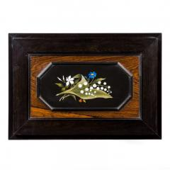 A fine quality ebony bijouterie table cabinet showing Cavalry Church - 1173203