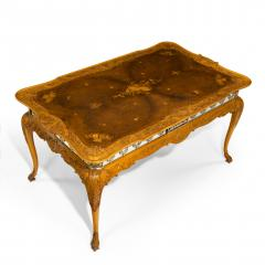 A fine walnut and burr walnut Orientalist centre table - 1115815