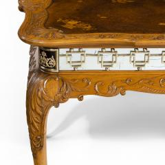 A fine walnut and burr walnut Orientalist centre table - 1115817