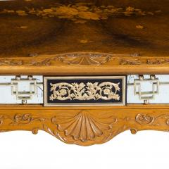 A fine walnut and burr walnut Orientalist centre table - 1115818