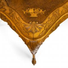 A fine walnut and burr walnut Orientalist centre table - 1115820