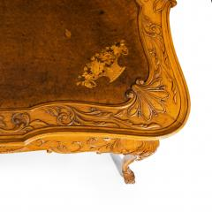 A fine walnut and burr walnut Orientalist centre table - 1115821