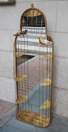 A gilded metal wall mirror - 755696