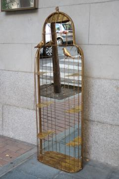 A gilded metal wall mirror - 755699