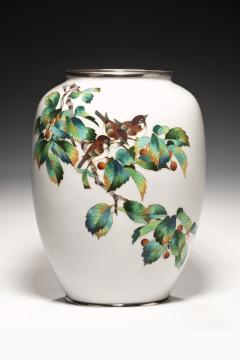 A large Japanese cloisonne vase - 1214644