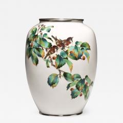 A large Japanese cloisonne vase - 1215359