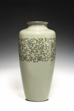 A large Japanese cloisonne vase Meiji period - 1214646