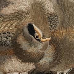 A large Meiji period silk embroidery of a sea eagle - 826700
