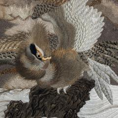 A large Meiji period silk embroidery of a sea eagle - 826701