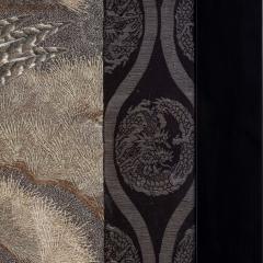 A large Meiji period silk embroidery of a sea eagle - 826704