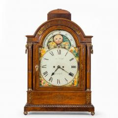 A large late Regency mahogany brass inlaid bracket clock by John Foster - 1128328