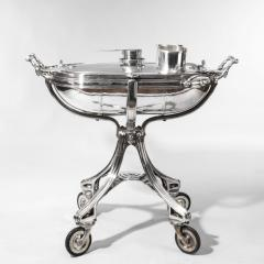 A large silver plate carving trolley or roast beef trolley by Erguis - 1156347