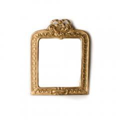 A late 19th Century Italian giltwood mirror with carved bow and garland details - 2007364