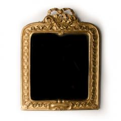 A late 19th Century Italian giltwood mirror with carved bow and garland details - 2007365