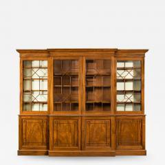 A late Regency mahogany breakfront bookcase - 1195922