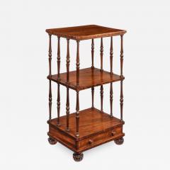 A late Regency mahogany three tier - 865076