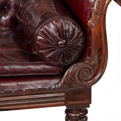 A late Regency rosewood chaise longue - 751931