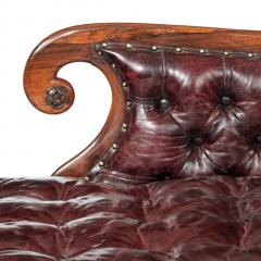 A late Regency rosewood chaise longue - 751934