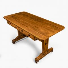 A late Regency rosewood end support table Gillows or Holland and Sons - 1851616