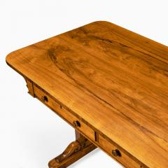A late Regency rosewood end support table Gillows or Holland and Sons - 1851617
