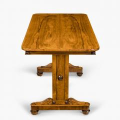 A late Regency rosewood end support table Gillows or Holland and Sons - 1851621