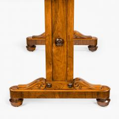 A late Regency rosewood end support table Gillows or Holland and Sons - 1851622