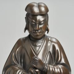 A magnificent Bronze Okimono of Jiraiya standing atop a toad - 1800083