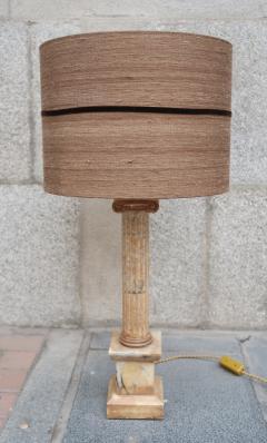 A marble column table lamp Italy XIXth century - 995260
