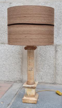 A marble column table lamp Italy XIXth century - 995263