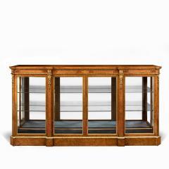 A mid Victorian burr walnut display cabinet - 1718939