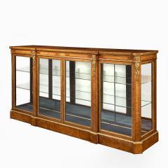 A mid Victorian burr walnut display cabinet - 1718940