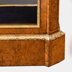 A mid Victorian burr walnut display cabinet - 1718941