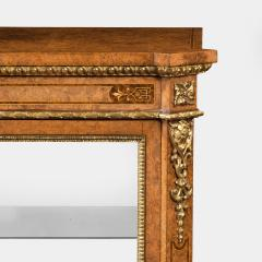 A mid Victorian burr walnut display cabinet - 1718942