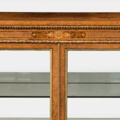 A mid Victorian burr walnut display cabinet - 1718943