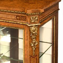 A mid Victorian burr walnut display cabinet - 1718944