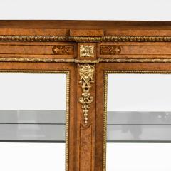 A mid Victorian burr walnut display cabinet - 1718945